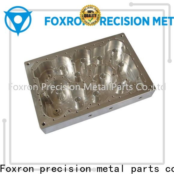 Foxron superior quality aluminum cnc parts with silver plating wholesale
