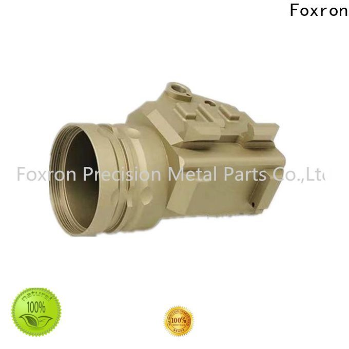 Foxron custom die casting components flashlight case for military