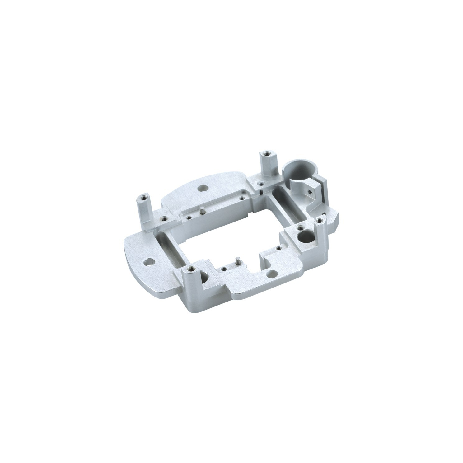 CNC machined part custom aluminum cnc machining part with white anodizing