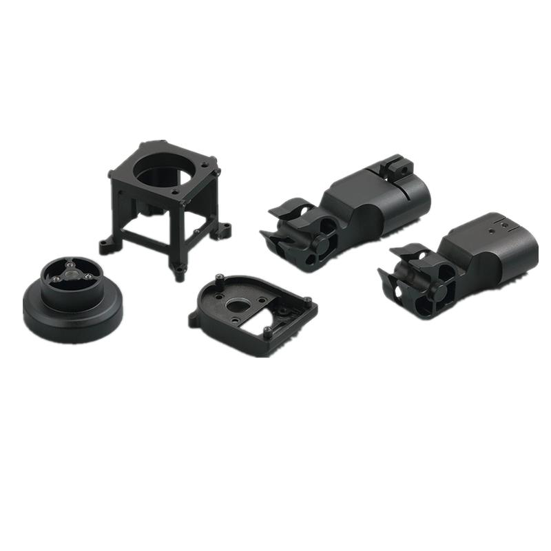 Parts manufacturer drone parts drone base cnc machining parts with black anodizing