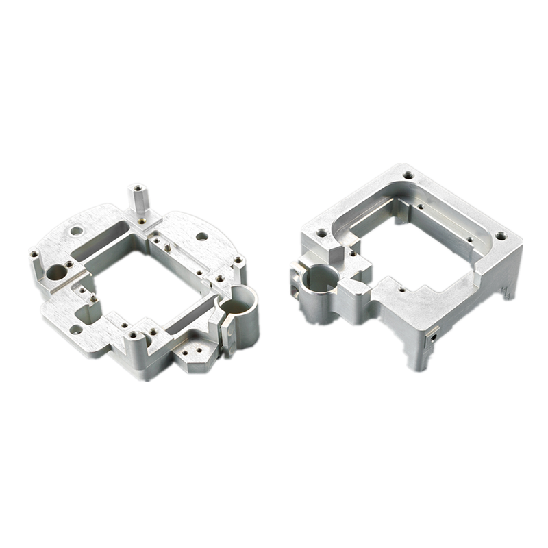 CNC machined part custom aluminum cnc machining part with white anodizing