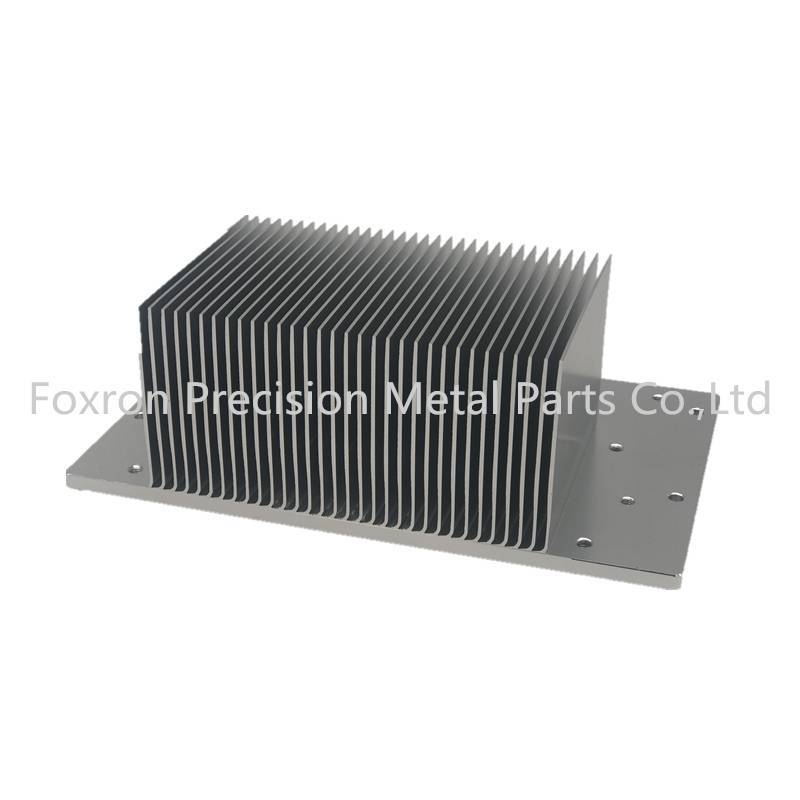 Aluminum extrusions CNC machined parts skived heat sinks with anodized surface treatment