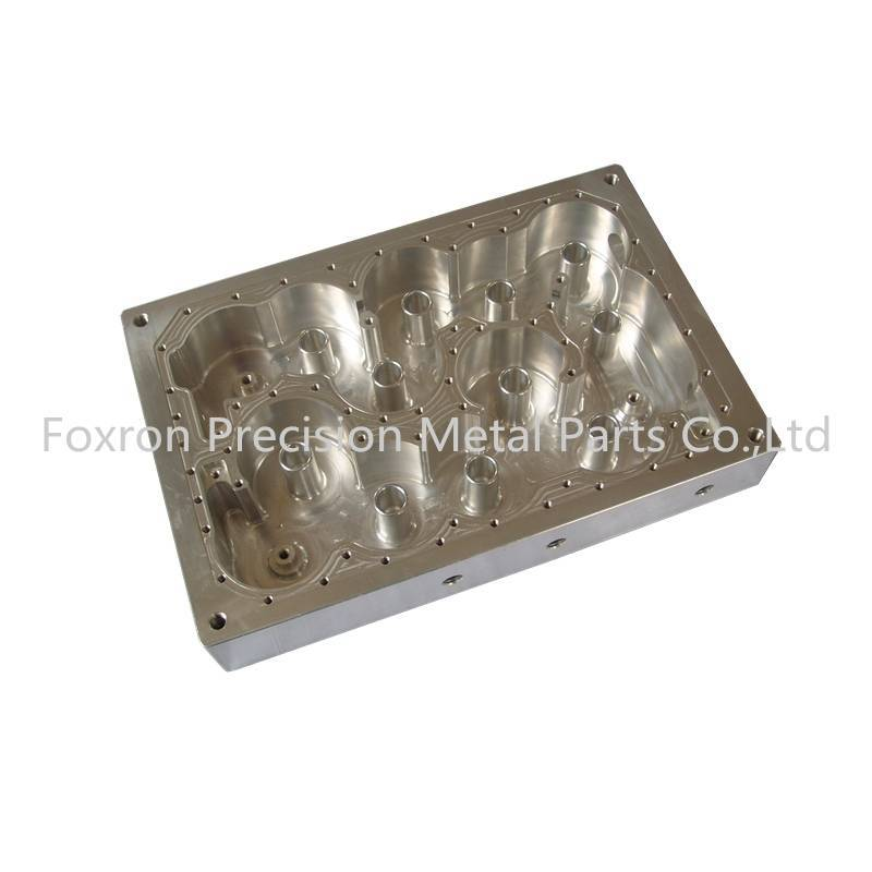 Precision CNC machining parts aluminum parts for telecom housings with silver plating