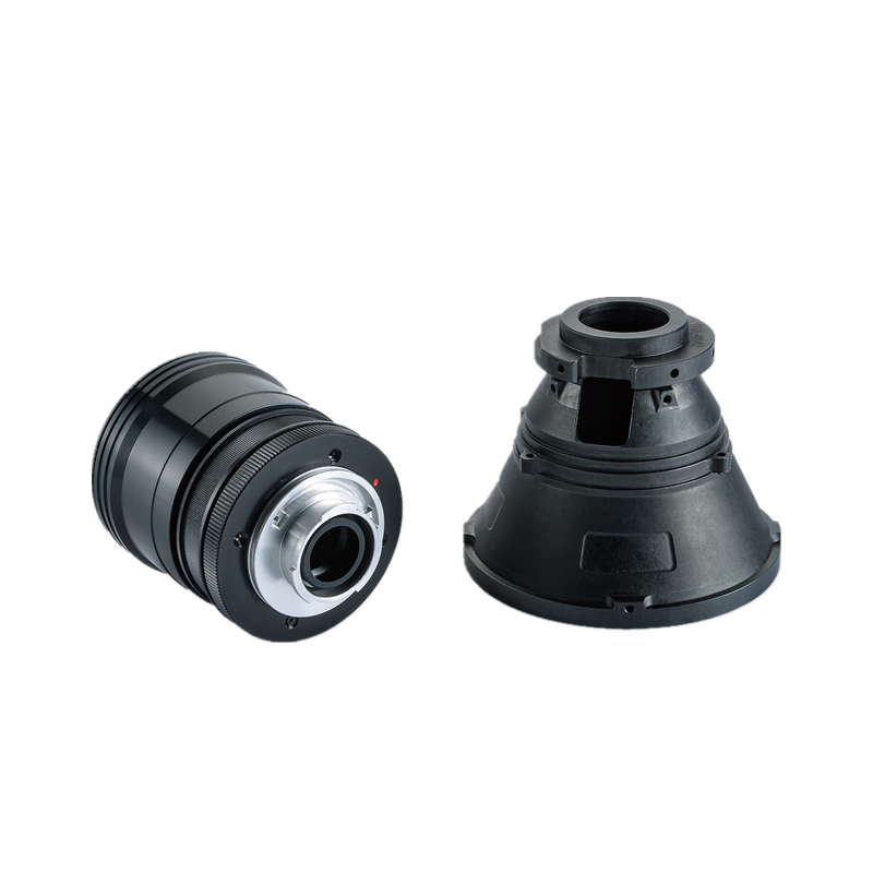 Aluminum CNC turning part precision machining part for optical instrument with black anodizing