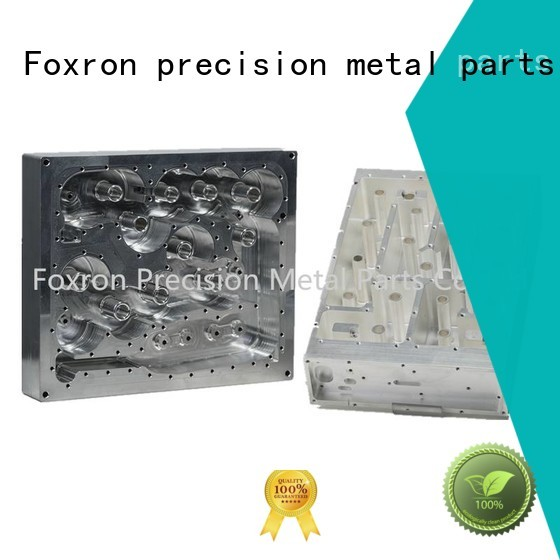 Foxron professional aluminum fabrication parts with silver plating for aluminum housing
